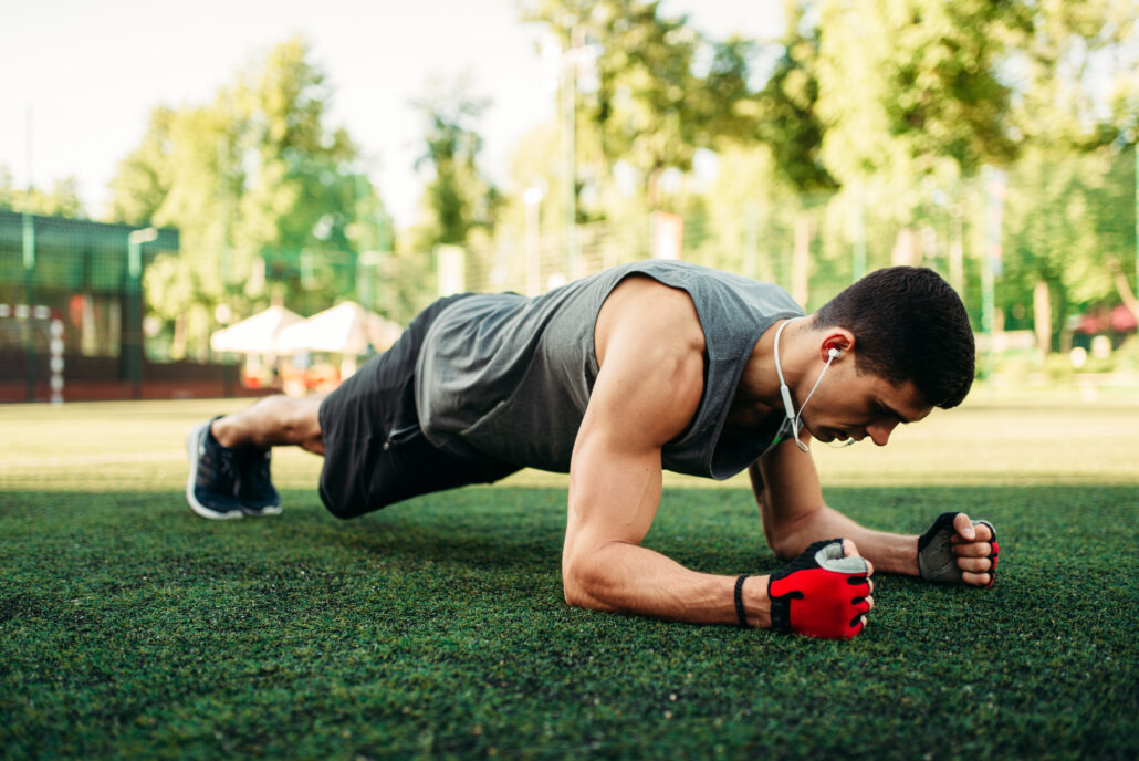 man exercising for stress and testosterone levels